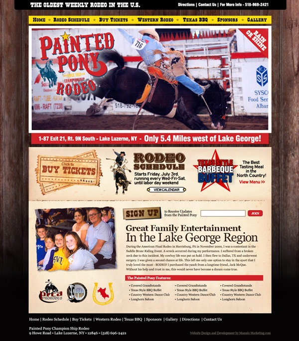 Painted Pony Rodeo Website Design and Development