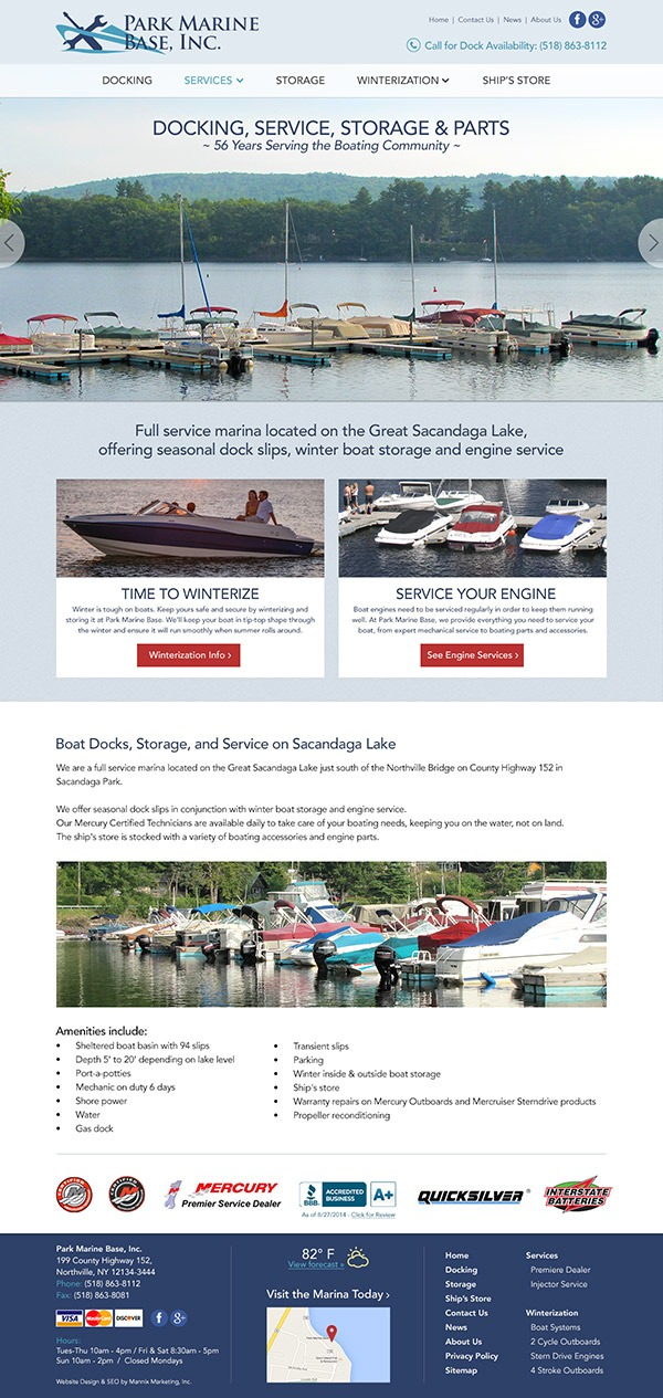 Park Marine Base Website Design and Development