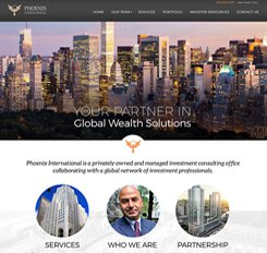 Phoenix International Website Design