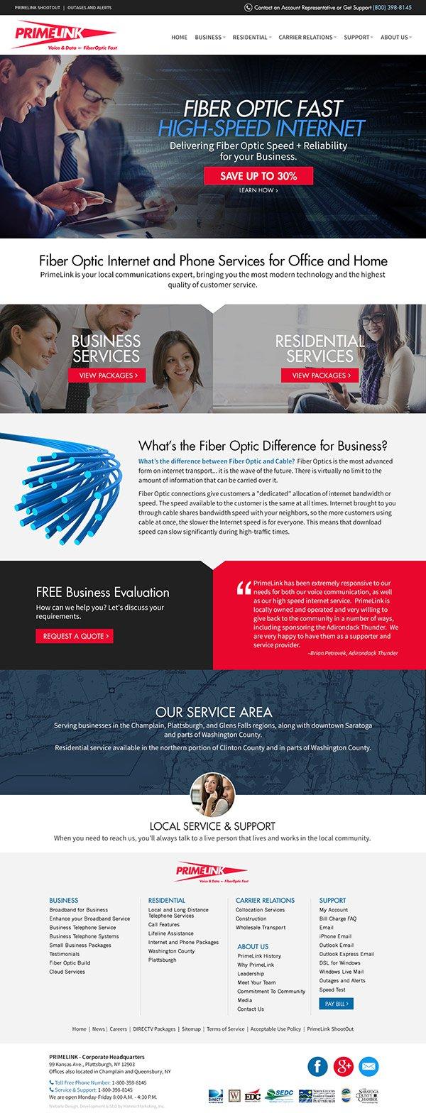 PrimeLink Website Design and Development