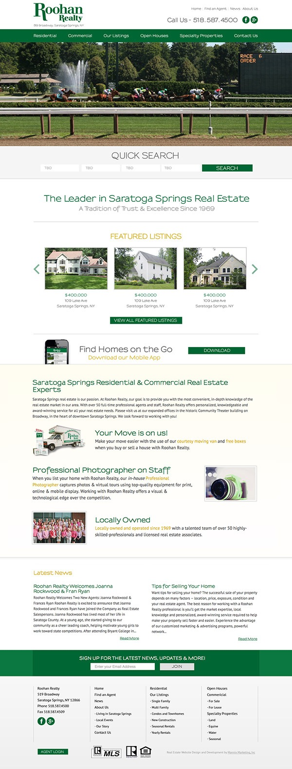Roohan Realty Website Design and Development