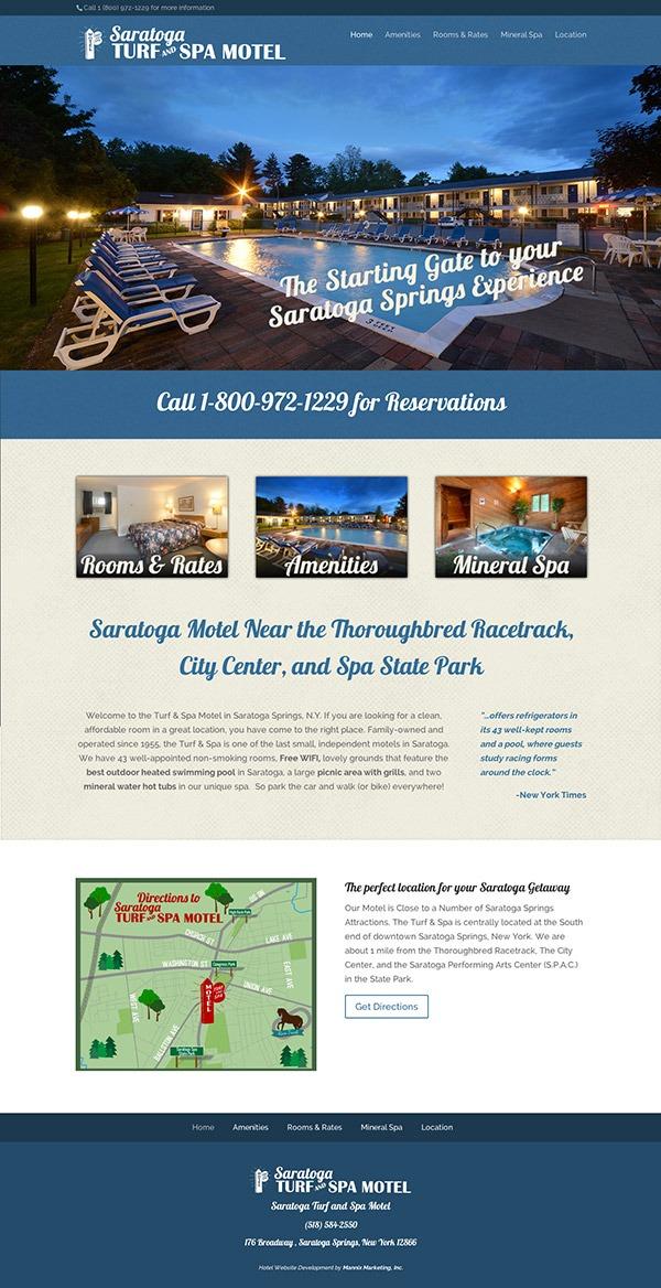 Saratoga Turf and Spa Motel Website Design and Development