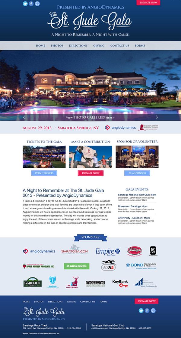 St. Jude Gala Website Design and Development