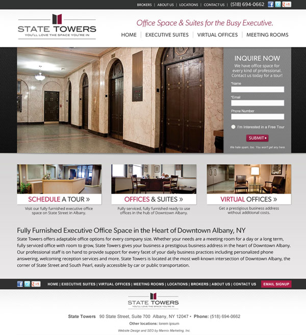 State Towers Website Design and Development