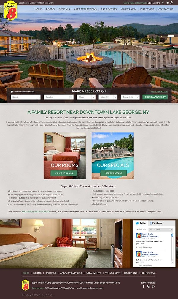 Super 8 Motel Lake George Website Design and Development