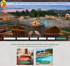 Super 8 Lake George Web Design
