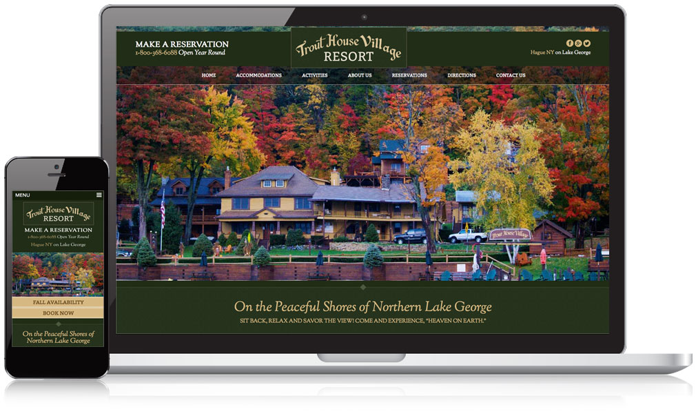 Trout House Village Resort Responsive Website Design