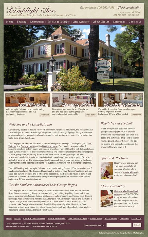 The Lamplight Inn Website Design and Development