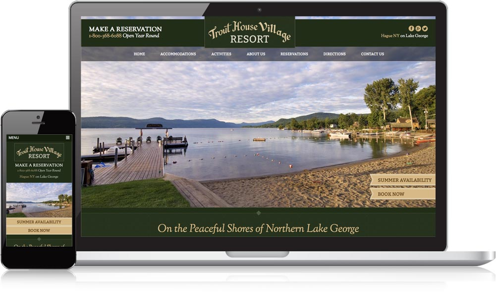 Trout House Resort Responsive Website Design