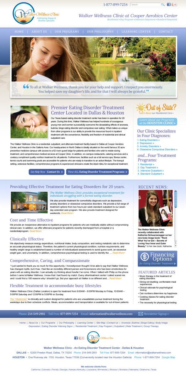 Walker Wellness Clinic Website Design and Development