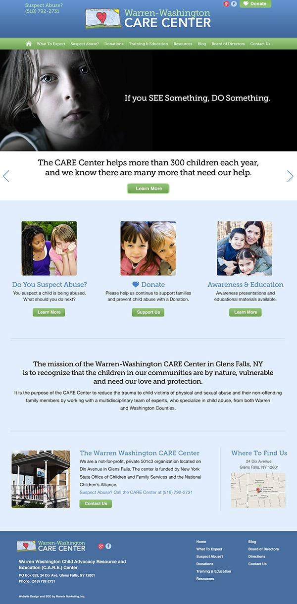 Warren-Washington Care Center Website Design and Development