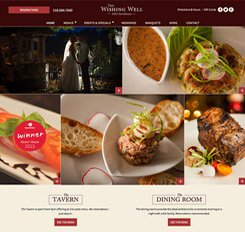 Wishing Well Restaurant Web Design