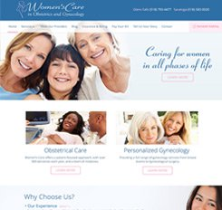 Women's Care Web Design