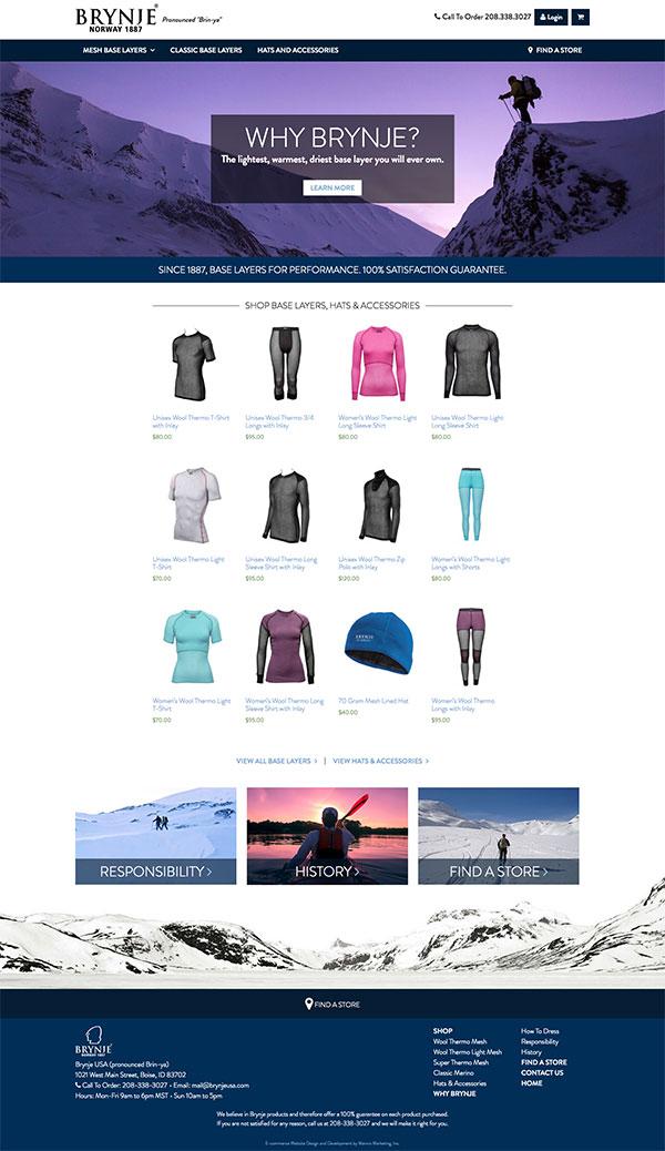 brynjeusa website design and development