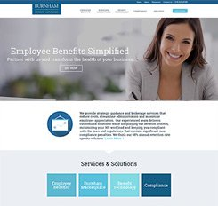 Burnham Benefits Web Design