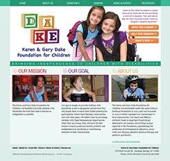 The Karen and Gary Dake Foundation Website Design