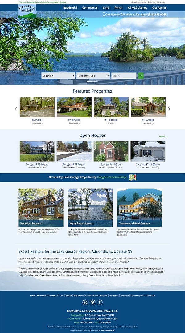 Davies-Davies and Associates Real Estate Website Design and Development
