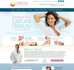 Garcia Plastic Surgery Website Design