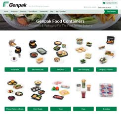 Genpak Website Design