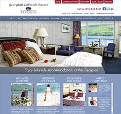 Georgian Lakeside Resort Website Design