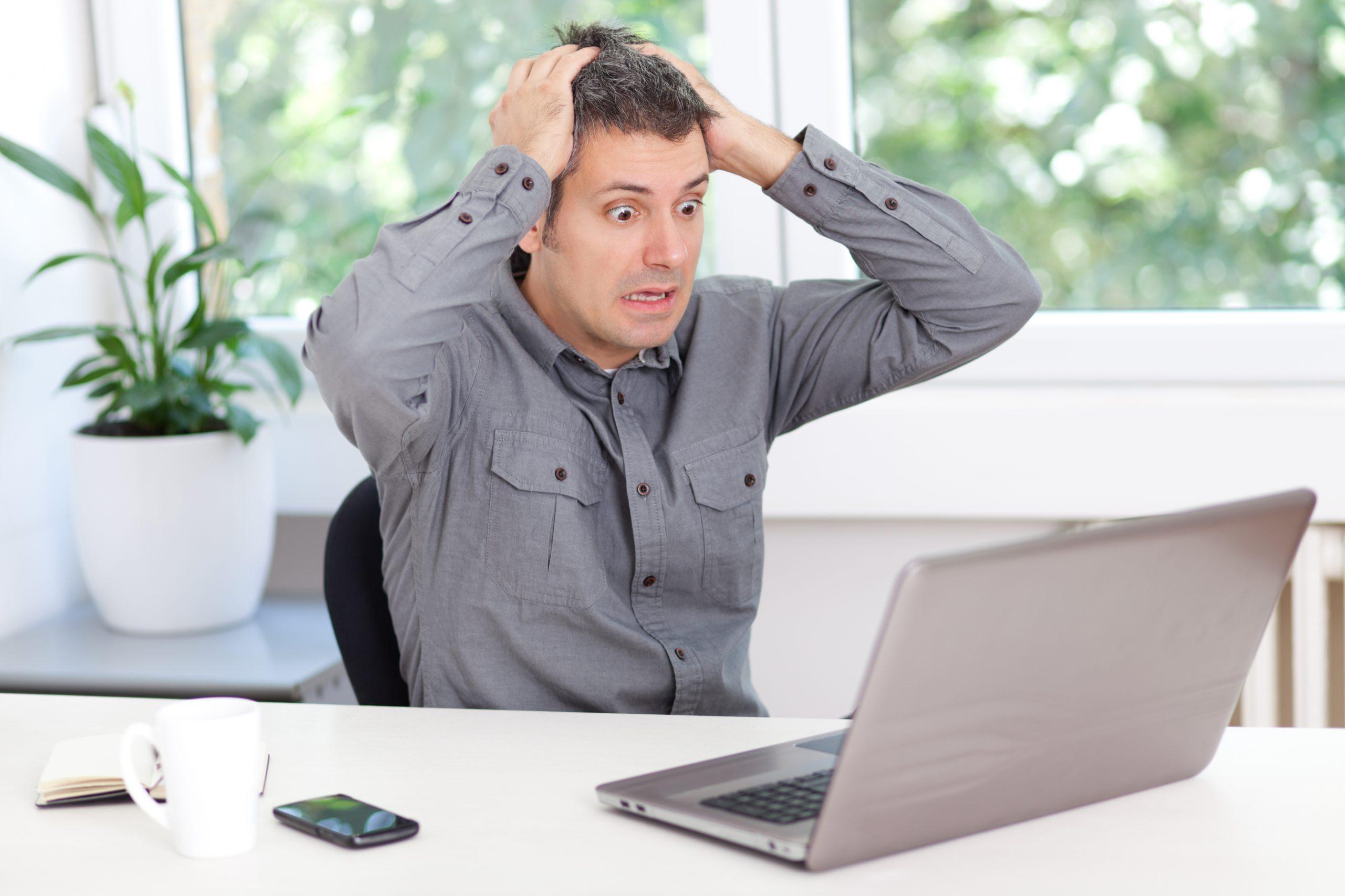 Website User Panicking