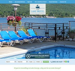 Lake Motel Website Design