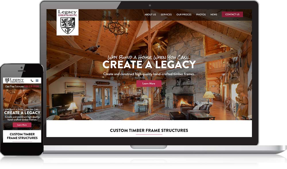 Legacy Timber Frames Responsive Website Development