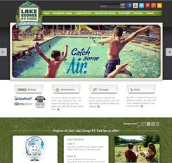 Lake George RV Park Website Design