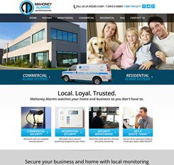 Mahoney Alarms Website Design