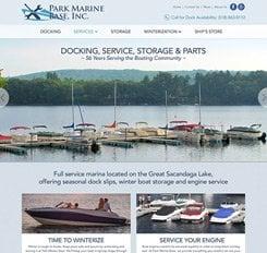Park Marina Base Website Design