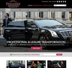 Premiere Transportation Website Design
