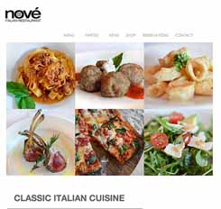 Nove Restaurant Website Screenshot