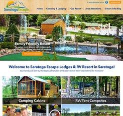 Saratoga Escape RV Resort Web Design