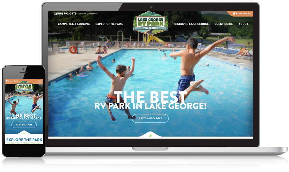 Laptop & Mobile Screens Of Lake George RV Park