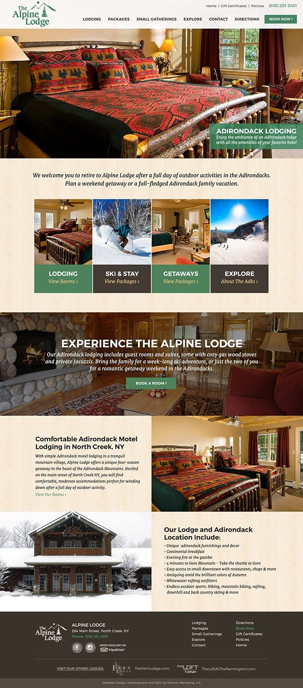 Alpine Lodge Website Design and Development