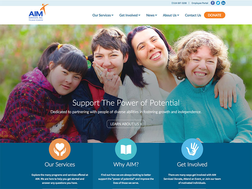 AIM Services Inc. Website Design and Development