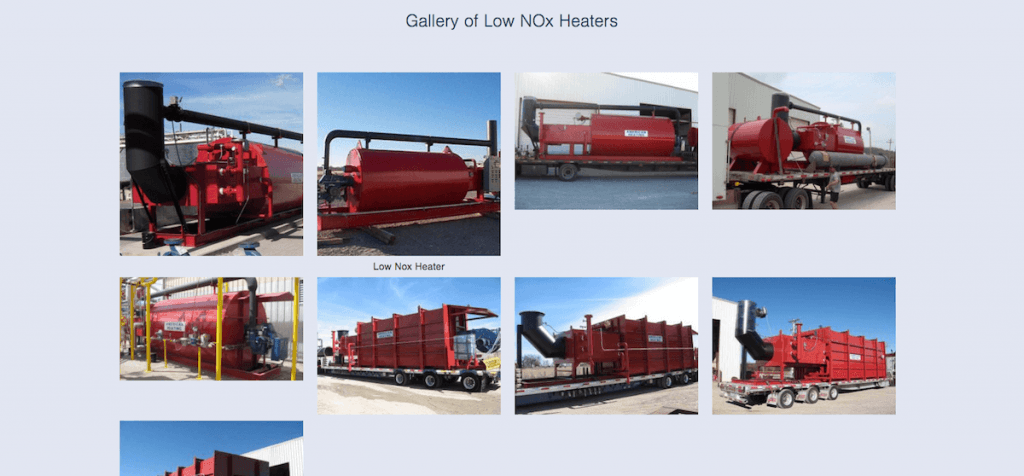 gallery on manufacturing website
