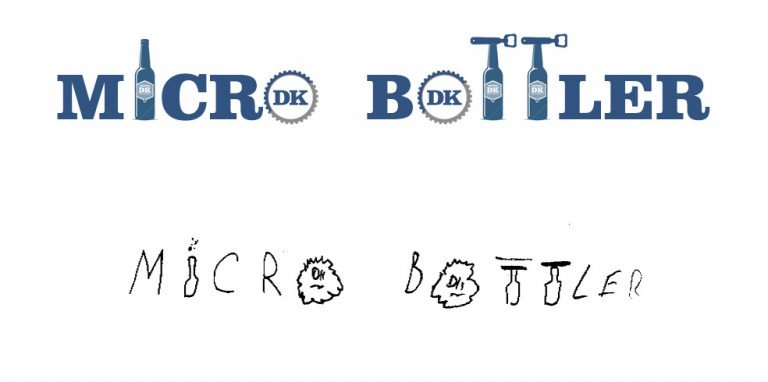hand-drawn concept of the microbottler logo