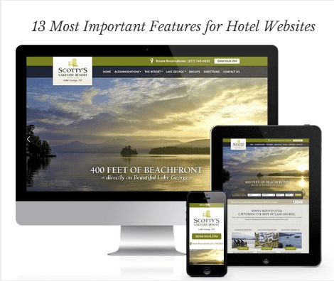 hotel website features for best website desig