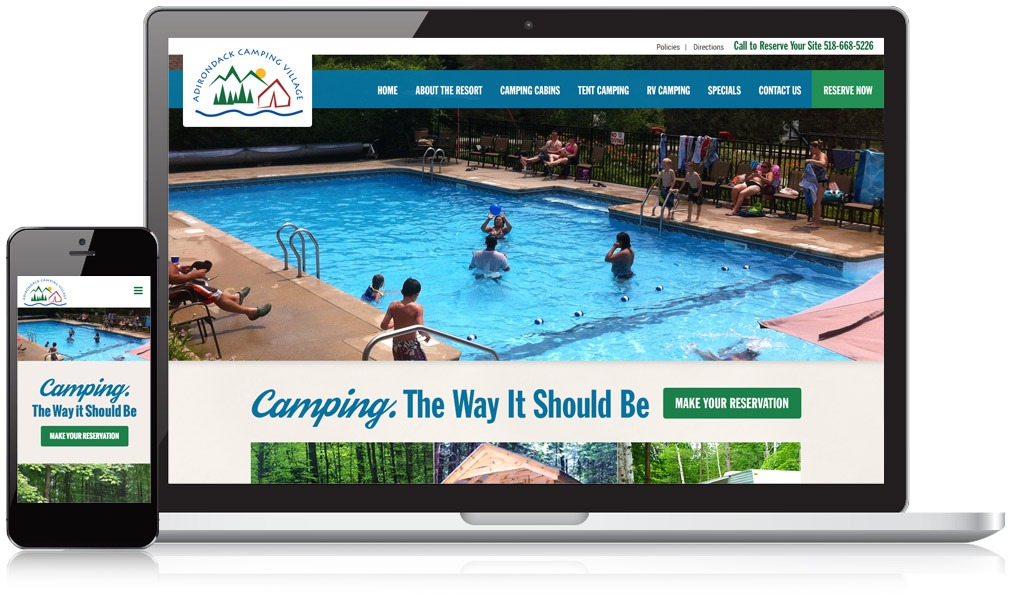 Adirondack Camping Responsive Website Design