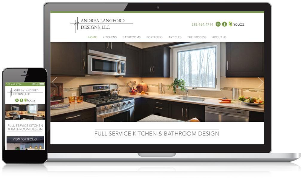 Andrea Langford Responsive Website Design