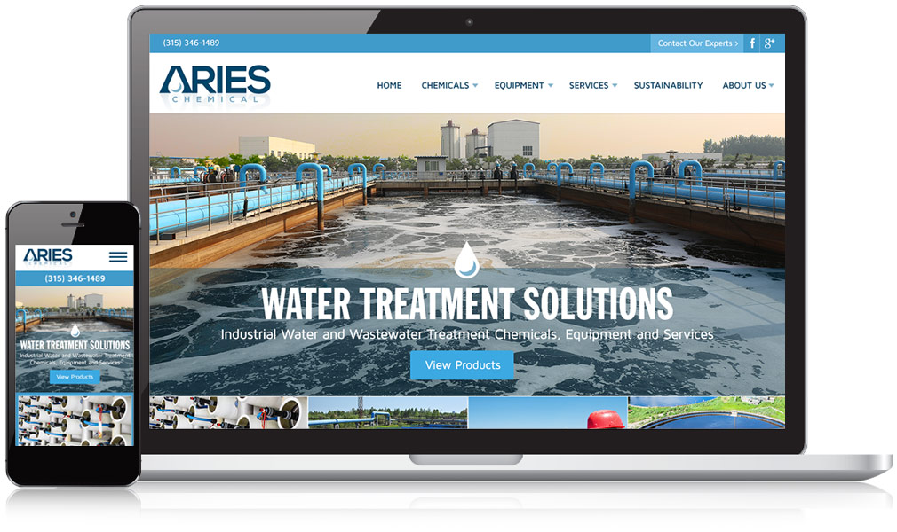 Aries Chemical Responsive Website Design