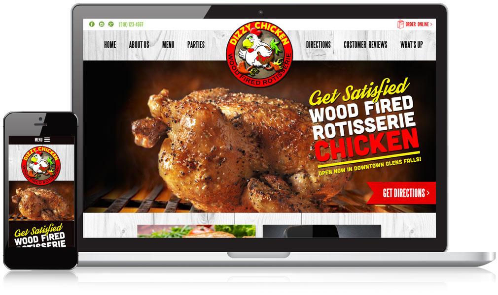 Dizzy Chicken Responsive Website Design
