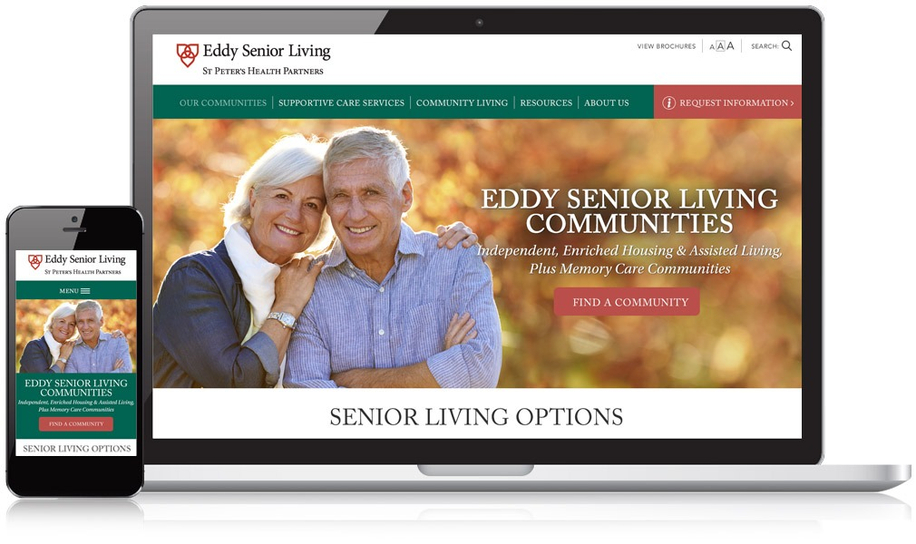 Eddy Senior Living Responsive Website Design