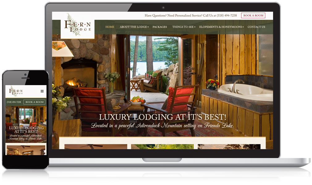 Fern Lodge Responsive Website Design