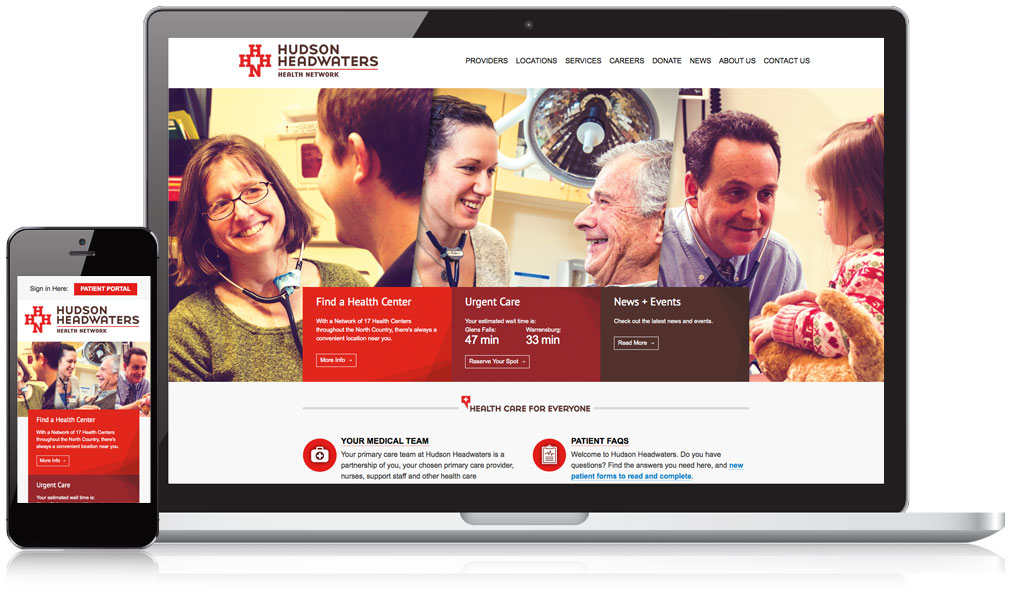 Hudson Headwaters Health Network Responsive Website Design