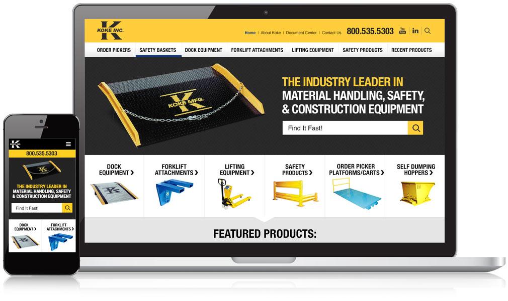 Koke Inc Responsive Website Design