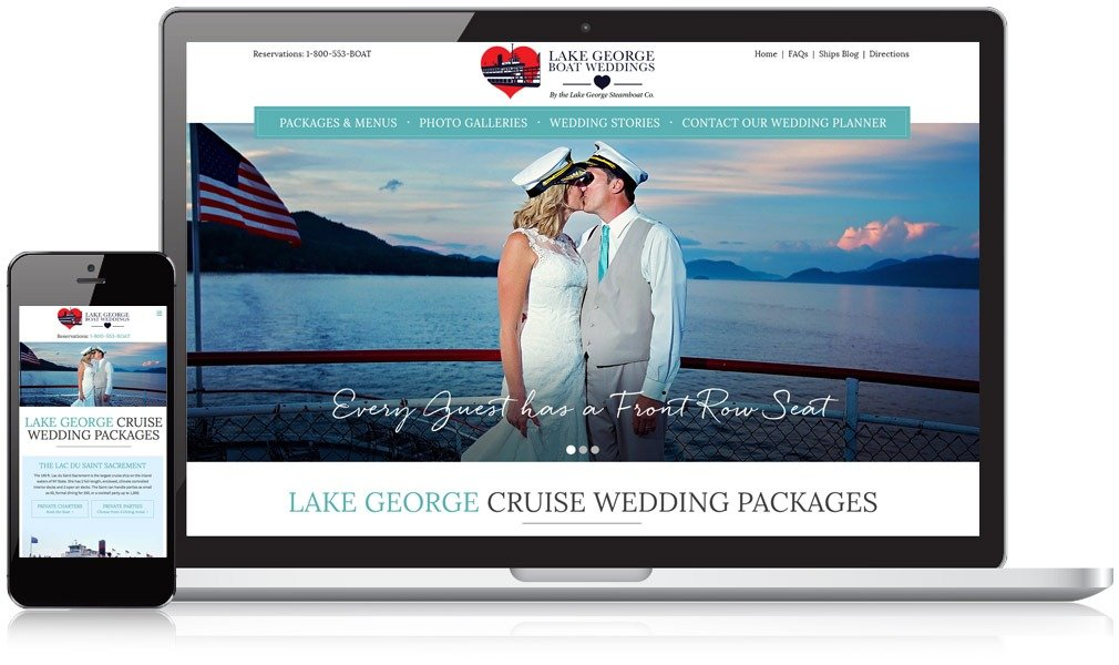 Lake George Boat Weddings Responsive Website Design