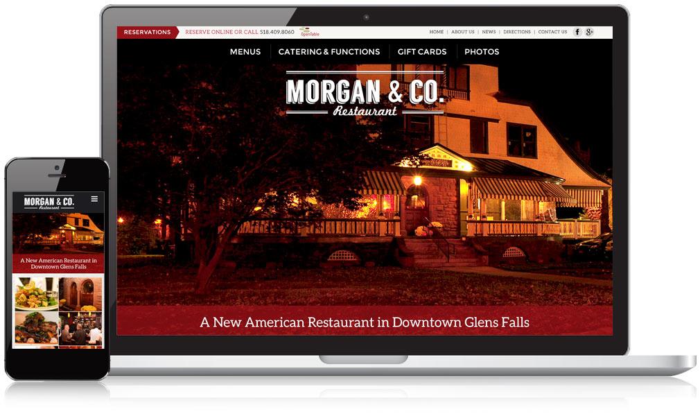 Morgan and Co Restaurant Responsive Website Design