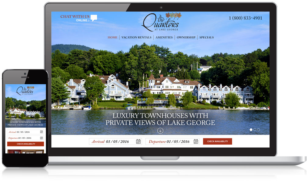 The Quarters at Lake George Responsive Website Design